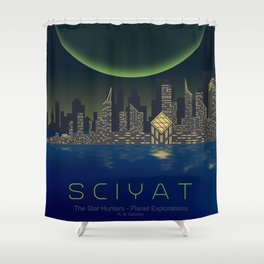 Planet Exploration: Sciyat Shower Curtain