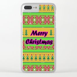 Merry christmas ugly Clear iPhone Case