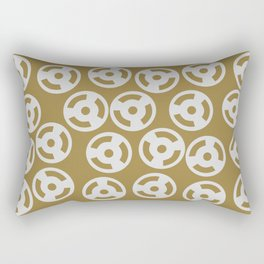 Discs Silver on Gold Rectangular Pillow