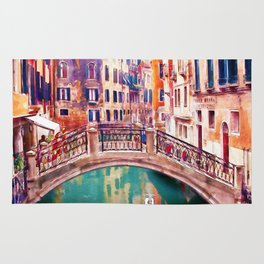 Small Bridge in Venice Rug