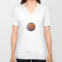 basketball V-neck T-shirts featuring Basketball by gbcimages