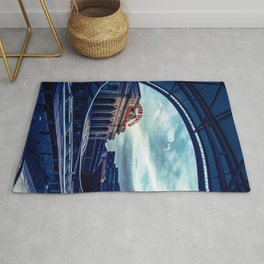Union Station // Downtown Denver Travel & Train Station Retro Red Sign City Scape Photography Rug