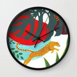 Monster Monstera Wall Clock