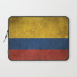 Old and Worn Distressed Vintage Flag of Colombia Laptop Sleeve