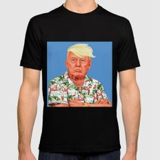 Hipstory -  Donald Trump LARGE Mens Fitted Tee Black