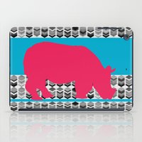 rhino iPad Cases featuring rhino  by mark ashkenazi