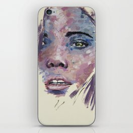 Pink and blue face iPhone Skin