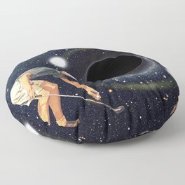 Black Hole in One Floor Pillow