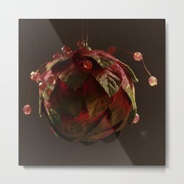 Red, Leafy and Playful Metal Print