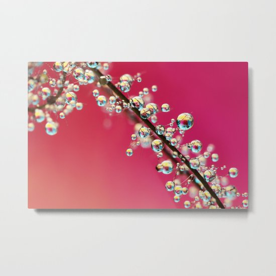 Smoking Pink Drops II Metal Print