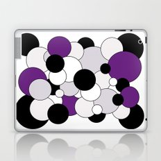 Bubbles - purple, black, gray and white Laptop & iPad Skin