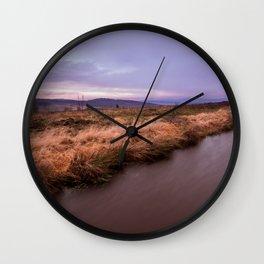Sunset river Wall Clock