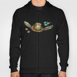 Sea Turtle Over Atlantis Hoody