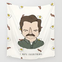 swanson Wall Tapestries featuring Sunny Side Swanson by Toast Studios