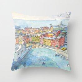 Vernazza, Cinque Terre, Italy Throw Pillow