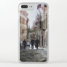 Sun Kissed Streets of Siena Clear iPhone Case