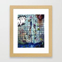 Junk shower Framed Art Print