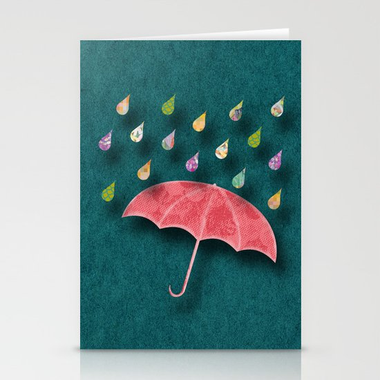 It's raining, it's pouring Stationery Cards