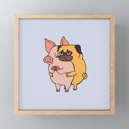 Friend Not Food Pug Framed Mini Art Print
