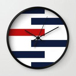 Modern Stripes - Bauhaus Wall Clock