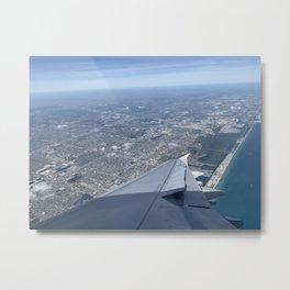 Window Seat: Miami Metal Print