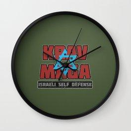 Israeli Krav Maga Magen David Wall Clock