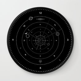 Time is a flat circle Wall Clock