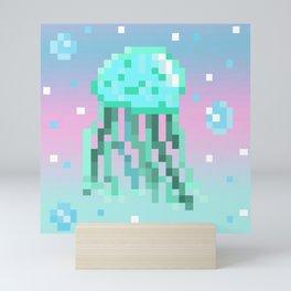Pixel Art Jellyfish Mini Art Print