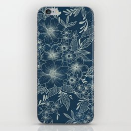 indigo bloom // repeat pattern iPhone Skin