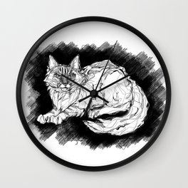 Dio the Maine Coon Wall Clock