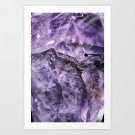 Amethyst Crystal Art Print