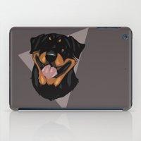 rottweiler iPad Cases featuring Rottweiler by Mickeyila Studios