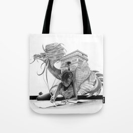 HOW IT BEGINS (featuring the photography of Harvey Lisse w/his daughter Chontelle) Tote Bag