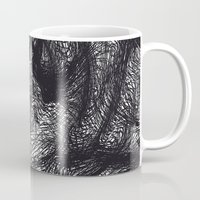 furry Mugs featuring furry swirl by Matthias Hennig