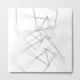 Abstract White Metal Print