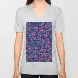 sophia roses by the sea Unisex V-Neck
