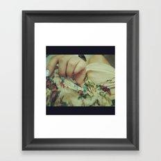 Her Lovely Scarf Framed Art Print
