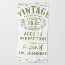 Green-Vintage-Limited-1943-Edition---74th-Birthday-Gift Beach Towel