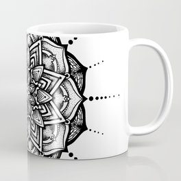 Organic Black Mandala Coffee Mug