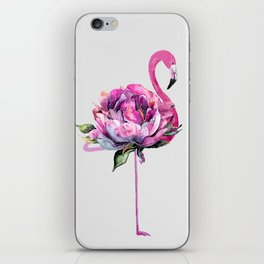 Flower Flamingo iPhone Skin