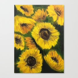 Sunflowers Oil Painting Canvas Print