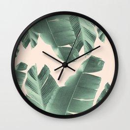 Banana Leaves Tropical Vibes #2 #foliage #decor #art #society6 Wall Clock