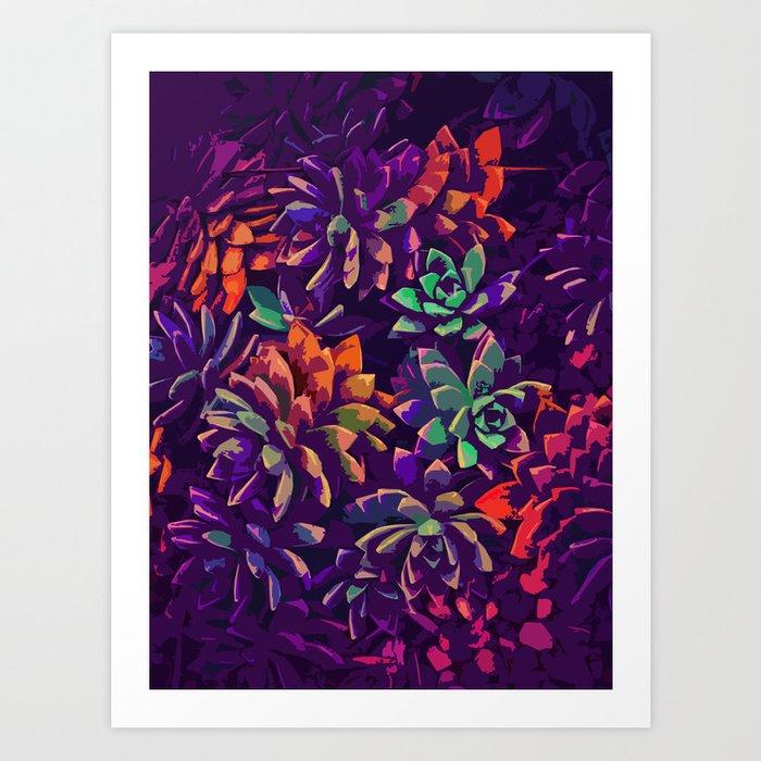 Cali Succulents 3 Art Print