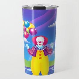 1997 It's That Scary Clown Travel Mug