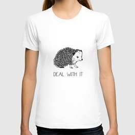 Deal With It Hedgehog T-shirt