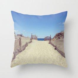 Block Island Beach Path Throw Pillow