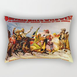 Buffalo Bill Cody - Rough Riders Rectangular Pillow