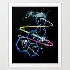 space fragmentation travel fig 4 Art Print