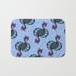 Sea Creature Fractal Bath Mat
