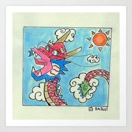 Colorful Dragon Art Print